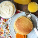 Orange Creamsicle Protein Pancakes